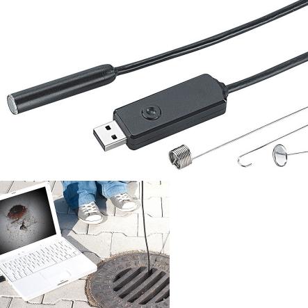 usb endoskop kamera mit led licht und 7m verst rktem kabel endoskop kamera kamera analog. Black Bedroom Furniture Sets. Home Design Ideas